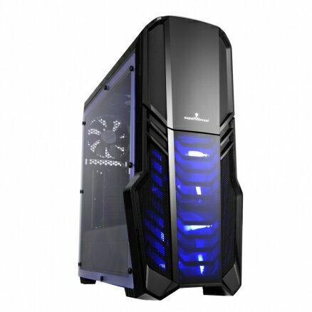 視博通SAJ001(B)未來戰士(全透側)電腦機殼PC機殼電競機殼【迪特軍】