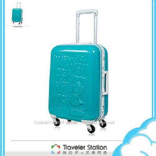 【騷包館】【CROWN皇冠】19.5吋TSA海關鎖 Disney夢想新版米奇硬殼旅行箱 蒂芬妮藍