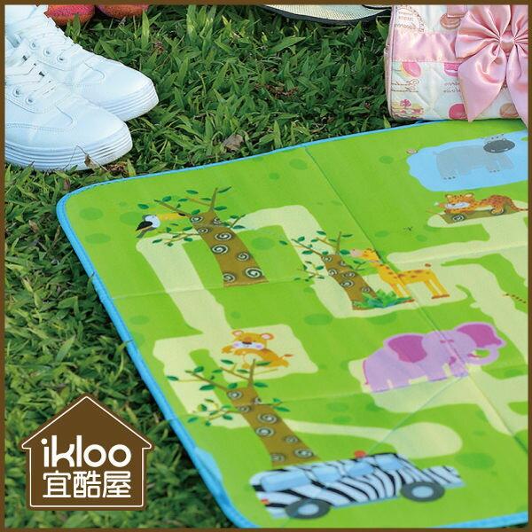 BO雜貨【YV9046】ikloo~樂活可提式收納野餐墊 玩具墊 摺疊收納箱 玩具收納箱 彩色地圖
