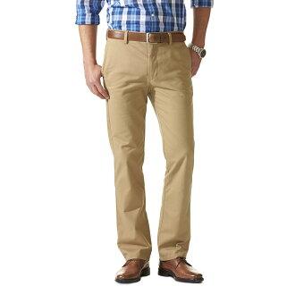 美國百分百【Dockers】D1 EASY KHAKI 長褲 西裝褲 直筒褲 休閒褲 上班 修身 卡其 32腰 F395