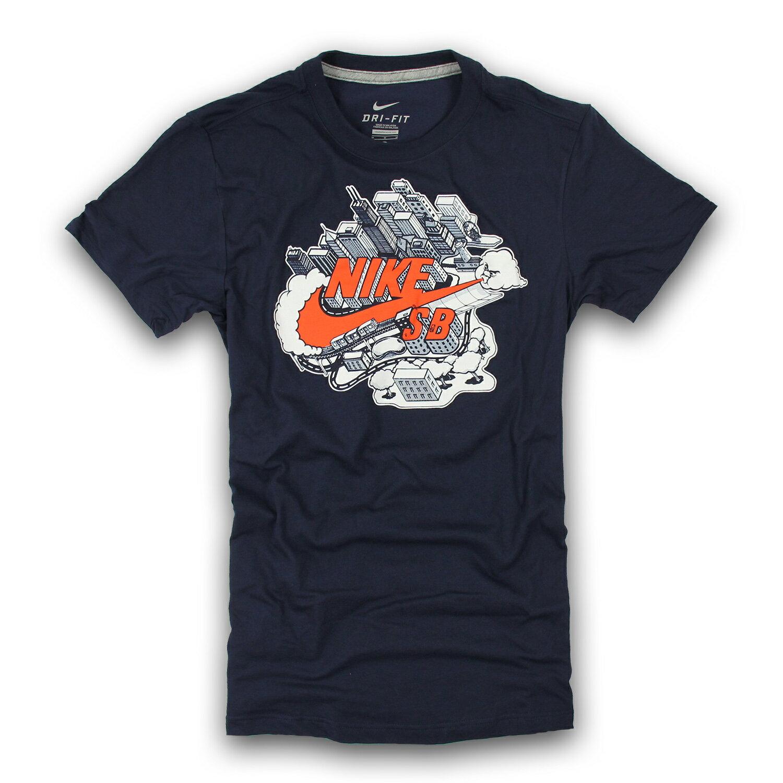 美國百分百【全新真品】Nike T恤 耐吉 短袖 上衣 T-shirt 深藍 吸汗 排汗 大尺碼 運動 男 M L號 F221