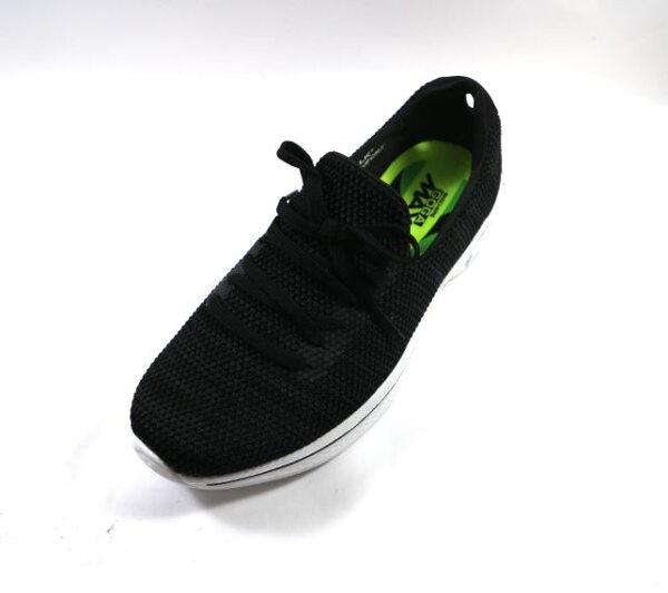 SKECHERS(女)健走系列GOWalk4健走鞋蝴蝶結套入款-14919BKW黑[陽光樂活]