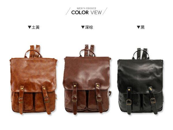 ☆BOY-2☆【NQA5005】韓國質感皮革後背包 1