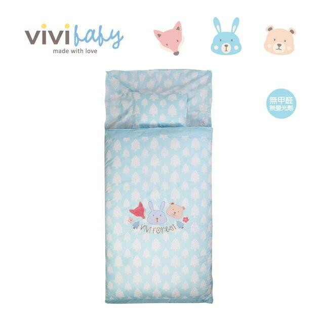 ViVibaby 夢幻森林幼兒睡袋(藍/粉)