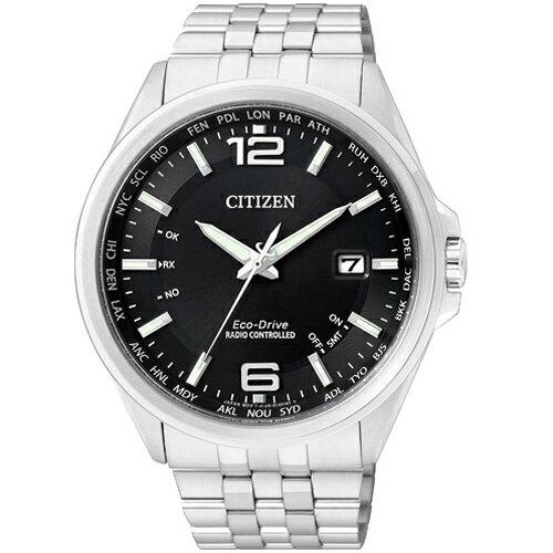 CITIZEN星辰CB0011-77E都會率性光動能電波腕錶/黑面43mm