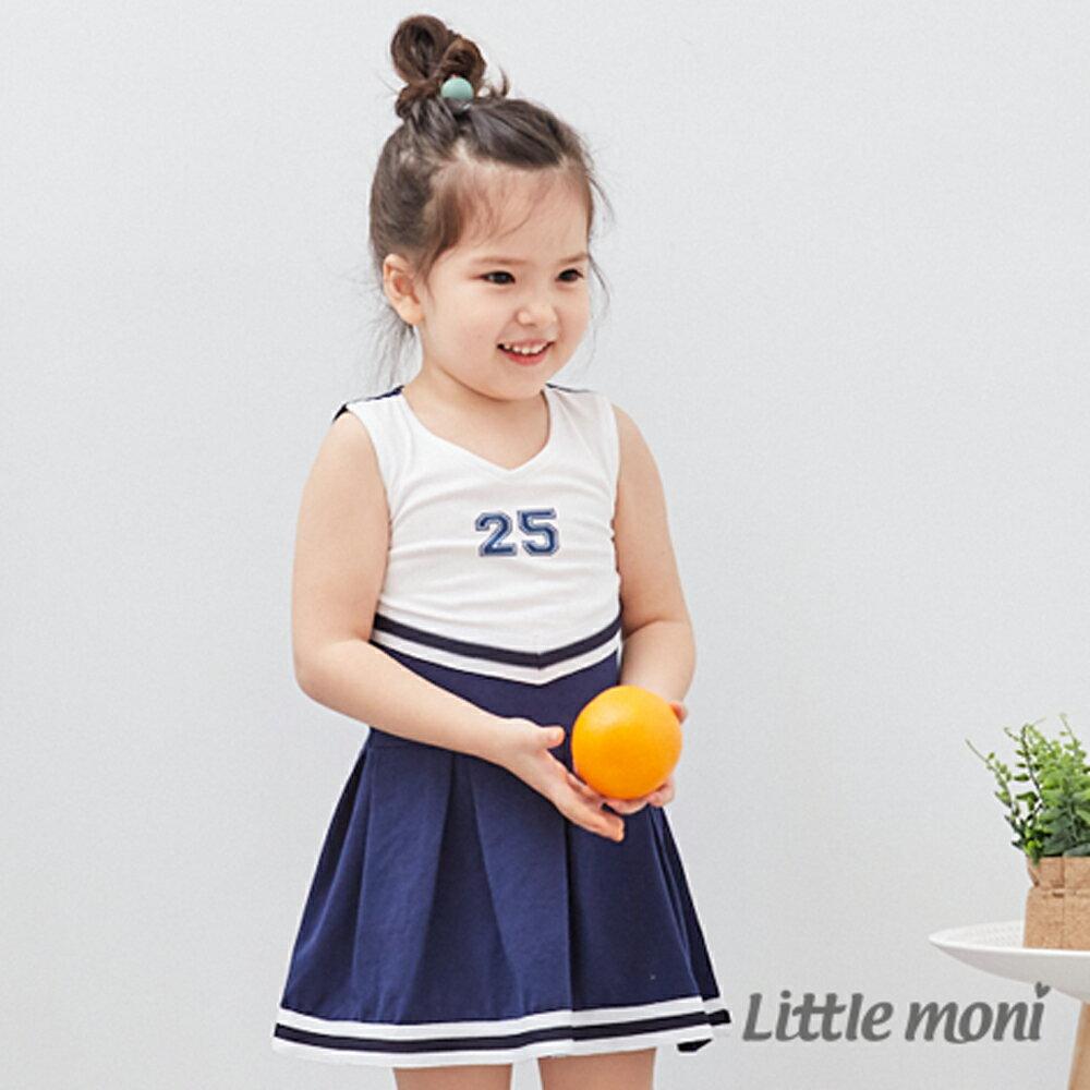 Little moni 無袖洋裝連身裙-深藍(好窩生活節) 0