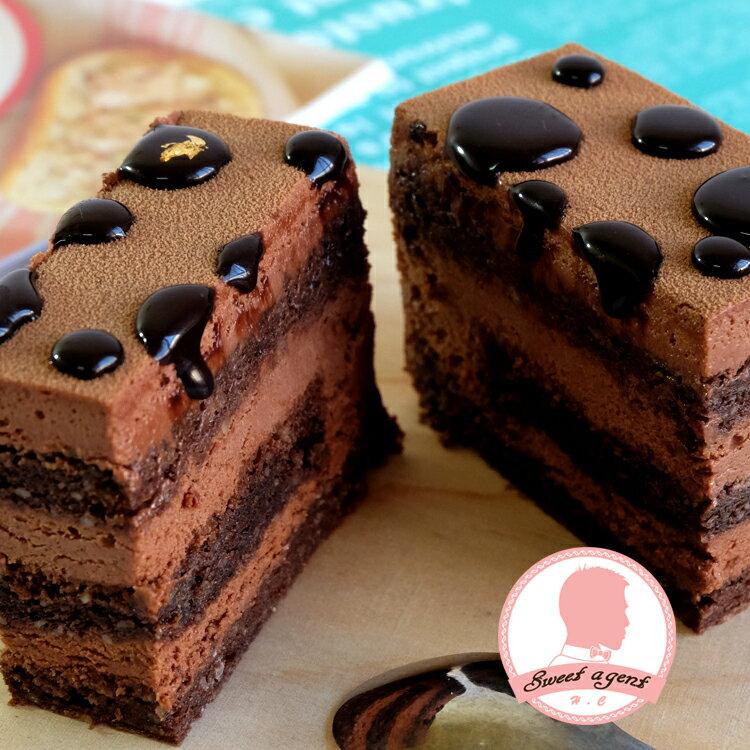 6吋免運【甜點特務】[魔鬼的眼淚巧克力蛋糕] 100%苦巧克力+巧克力鮮奶油+巧克力蛋糕 0