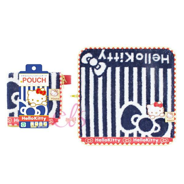 Hello Kitty POUCH 多 毛巾布水壺袋 收納袋 ~艾莉莎ELS~