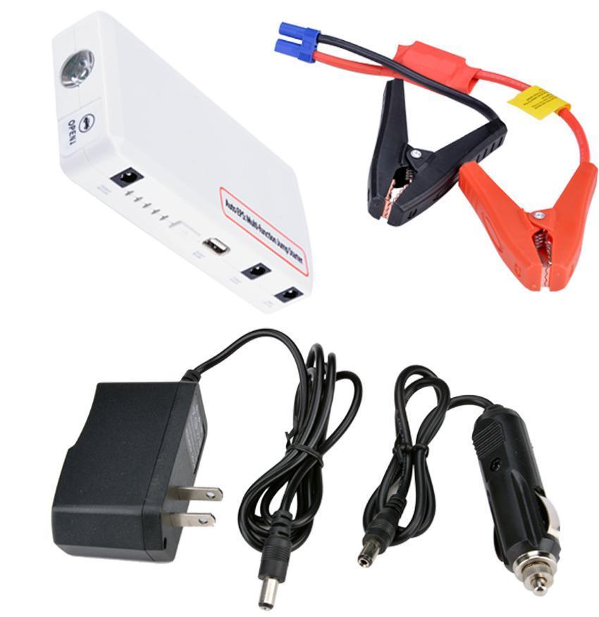 15000mAh Jump Starter Car Battery Charger Mini Power Bank LED Light 12V White 1