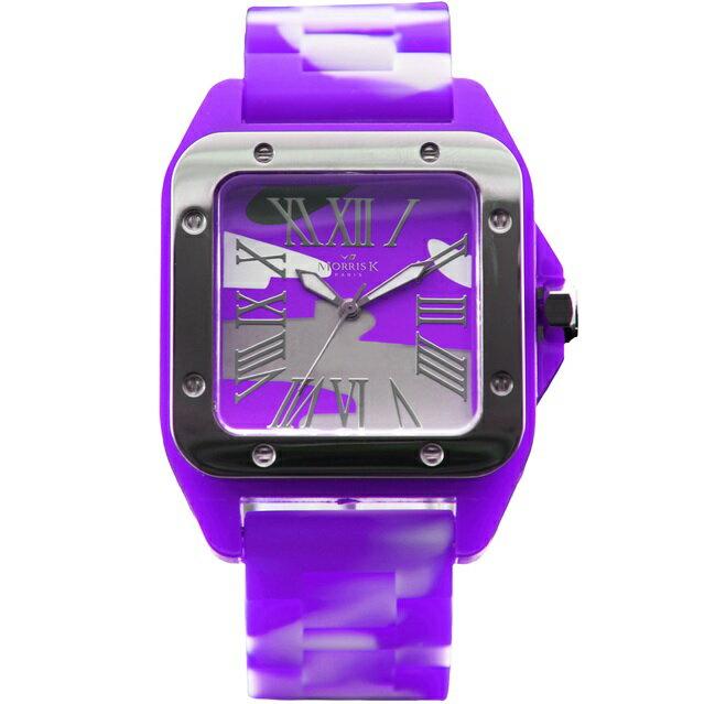 【Morris K】羅志祥代言 舞極限方型休閒潮流腕錶 迷彩 38mm-MK13015-IS09