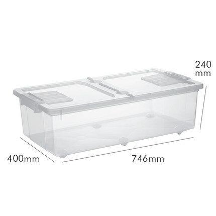床底儲物箱 床底收納箱家用透明特大號塑膠有蓋衣服被子帶輪床下收納盒整理箱『SS216』