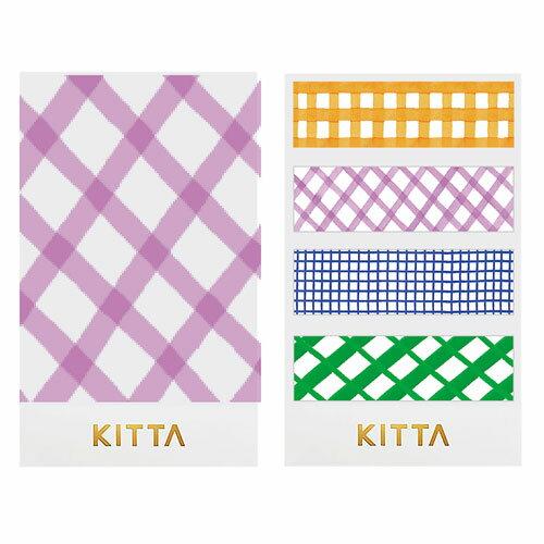 【日本KITTA】隨身攜帶和紙膠帶KIT034格紋款3本