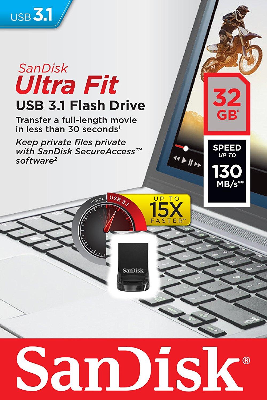 3c Expert Sandisk 32gb Usb 31 32g Sdcz430 Cz430 Ultra Fit 130mb S Flashdisk Cruzer Glide 032g Flash