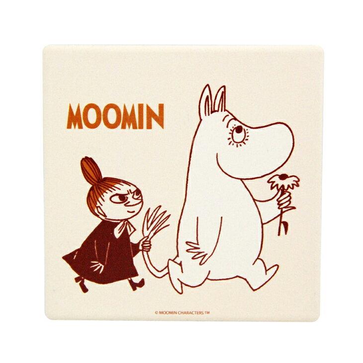 Moomin嚕嚕米正版授權 - 吸水杯墊:【 跟屁蟲 】 ( 圓 / 方 )