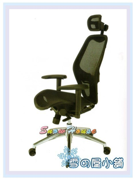 ╭☆雪之屋居家生活館☆╯R222-03 JG700138GEA高背黑網椅/電腦椅/辦公椅/會客椅/櫃檯椅/休閒椅