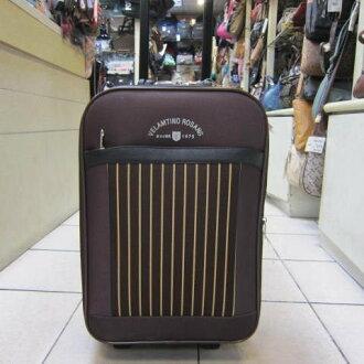 ~雪黛屋~范倫鐵諾 25吋 可加大行李箱 V590623 時尚外型 流線設計 輕巧好推拉 (咖啡)