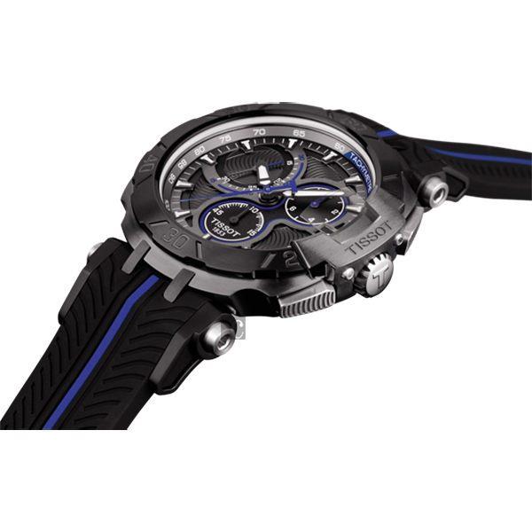 全球限量5000只 TISSOT 天梭 T-RACE MOTOGP 2017限量版賽車錶-黑x藍 / 45mm T0924173706100 3