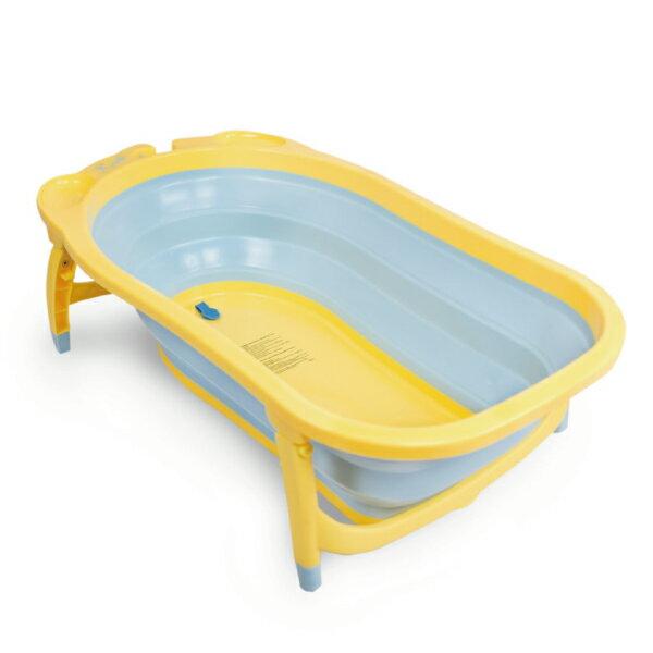 Karibu 凱俐寶 Tubby摺疊式澡盆/浴盆-黃藍色(不含浴網)