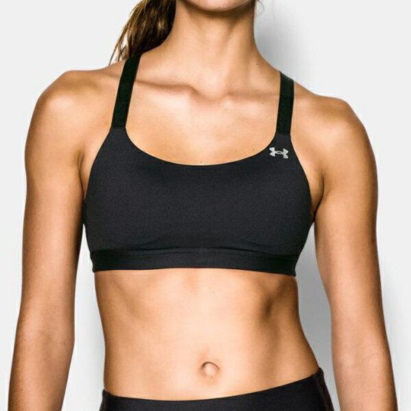 《UA出清一件699》Shoestw【1248338-001】UNDER ARMOUR UA服飾 Eclipse 運動內衣 緊身 強力彈性型 中強度 可調整後背交叉肩帶 黑色 女生