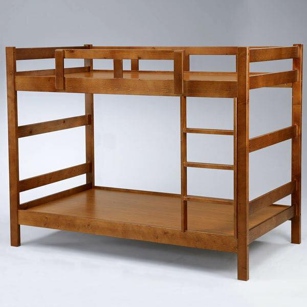 米克3.5尺雙層床-淺胡桃色❘上下鋪 / 雙層床 / 兒童床鋪 / 床架 / 單人床【Yostyle】 - 限時優惠好康折扣