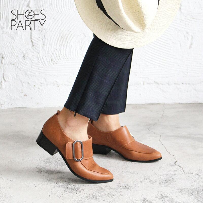 【B2-17206L】橢圓扣個性俐落踝靴_Shoes Party 2