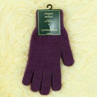 保暖配件推薦紐西蘭貂毛羊毛手套*超輕暖*素面紫莓色