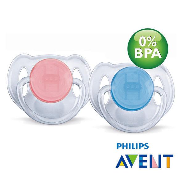 『121婦嬰用品館』AVENT 水晶矽膠安撫奶嘴(0-6m) 2入 2
