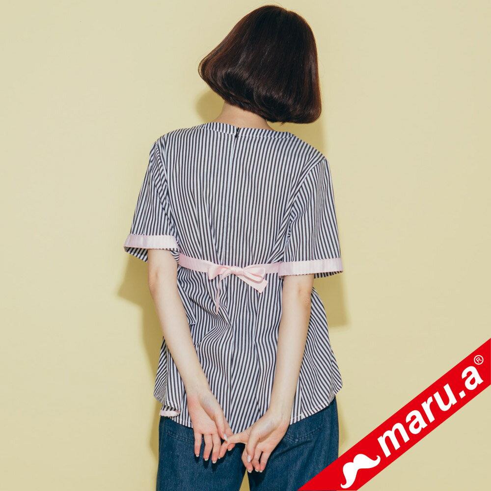 【maru.a】領口挖空舒適上衣(2色)8313112 4