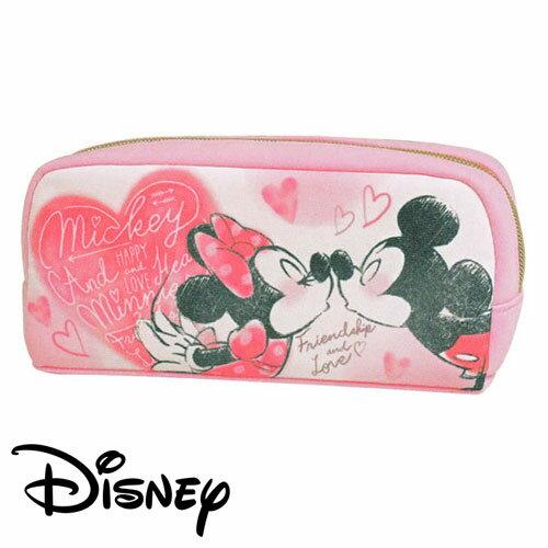 【日本進口正版】米奇 米妮 親親 筆袋 鉛筆盒 迪士尼 Disney Mickey Minnie - 461085