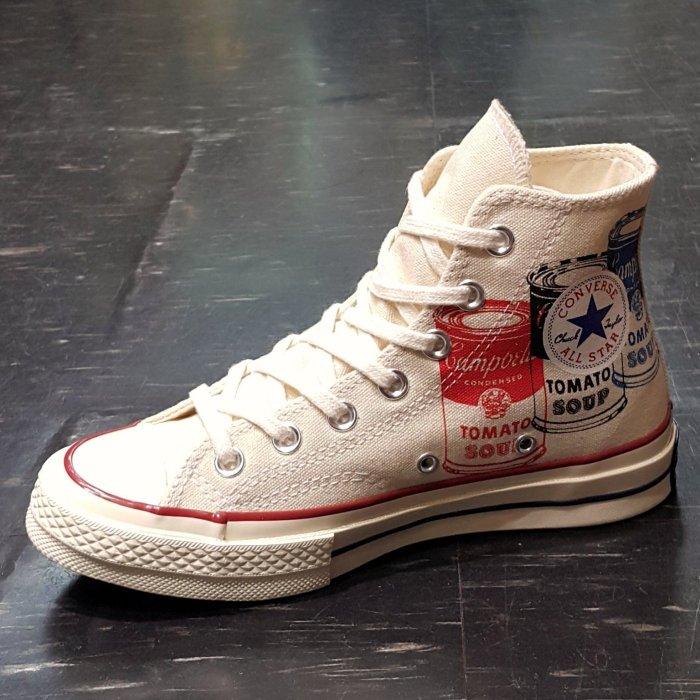 Converse All Star Andy Warhol 安迪沃荷 罐頭 1970s 黑標 米白色 147121C