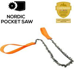 Nordic Pocket Saw 北歐口袋鏈鋸/線鋸/輕量鋸子/小型鏈鋸/登山/露營/狩獵/釣魚/叢林 橘色 11003/ NPSO
