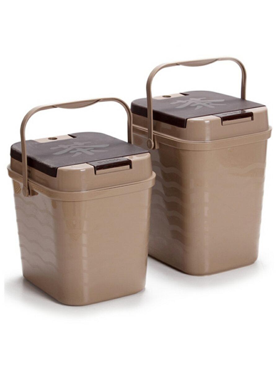 茶渣桶 茶渣桶茶桶塑料廢水桶功夫茶具配件茶臺垃圾桶家用排水桶小茶水桶 【CM1584】
