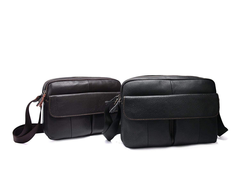 【BEIBAOBAO】韓版質感真皮側背包(共兩色  時尚黑) 1