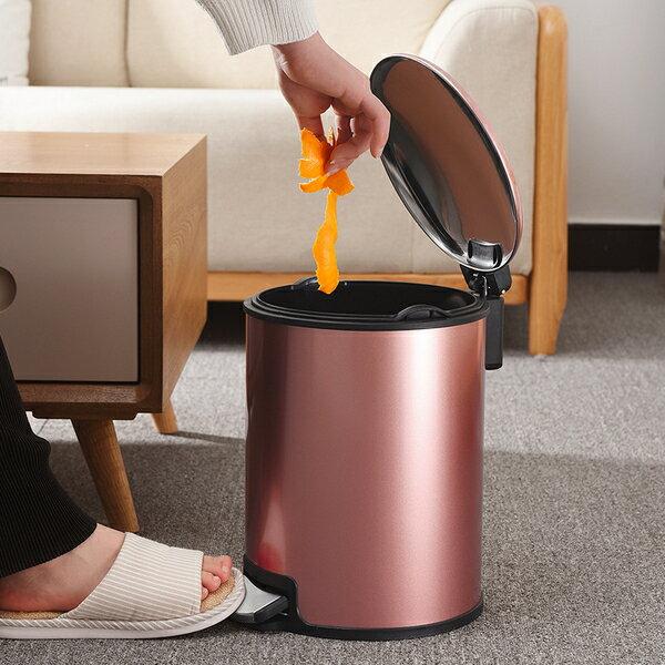 歐式 垃圾桶 家用 客廳 臥室 衛生間 廚房 創意有蓋大號不鏽鋼腳踏式帶蓋yh