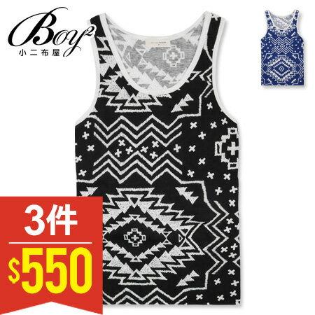 ☆BOY-2☆【NAL111】休閒背心美式潮流簡約滿版顏色圖騰滾邊運動背心 0
