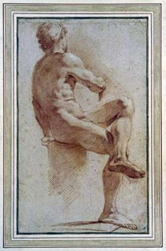A Male Nude Seated With His Back Turned Rolled Canvas Art - Annibale Carracci (10 x 14) 18c587f1c55e3791974e3e2291f46f1d