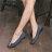格子舖*【AW1280】MIT台灣製 簡約時尚絨布材質金屬框設計 3.5CM低粗跟 圓頭包鞋 2色 2
