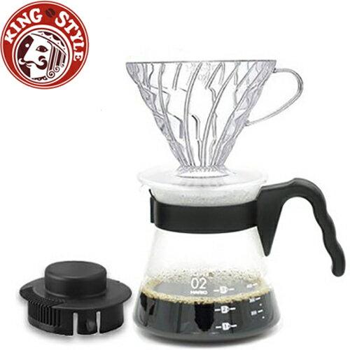 金時代書香咖啡 HARIO V60透明濾泡咖啡壺組1~4杯 700ml / VCSD-02B-EX