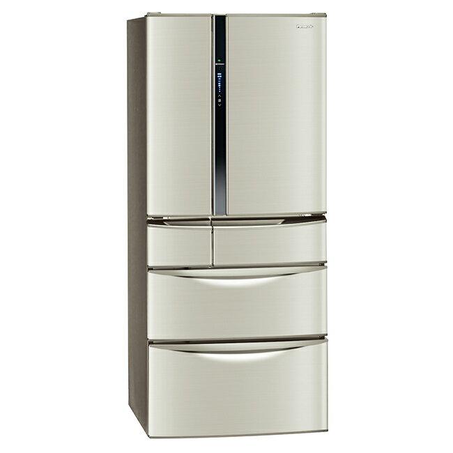 【國際牌Panasonic】ECONAVI 560L變頻六門冰箱。香檳金/(NR-F567MV/NR-F567MV-L)