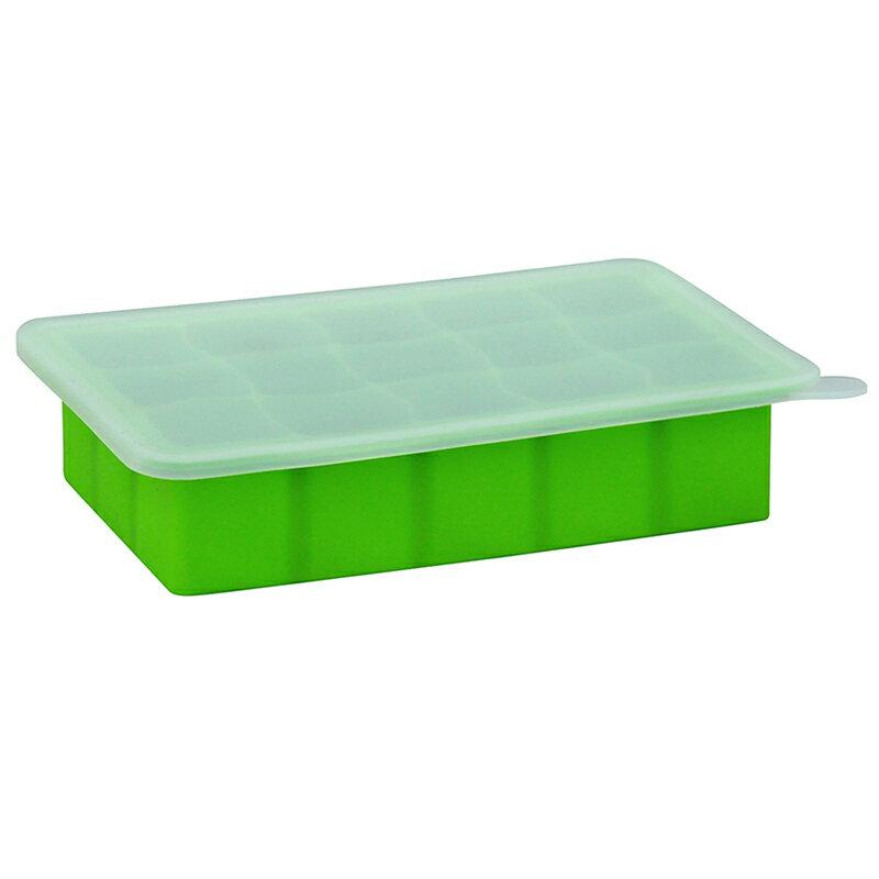 【愛寶貝】美國 green sprouts 寶寶副食品15格冷凍盒 製冰盒(不含BPA BPS、無PVC 安全塑膠)_草綠色_GS185300-4
