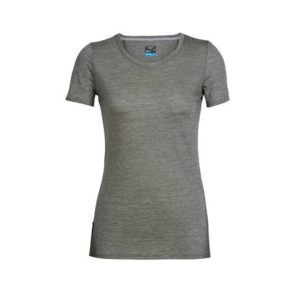 《台南悠活運動家》icebreaker 104067 女 COOL-LITE 圓領短袖上衣-條紋淡綠