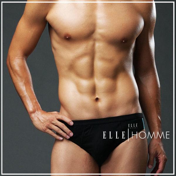 ELLE HOMME萊卡剪接低腰三角褲/男內褲-黑《超值三件組》【中揚精品】E8583 - 限時優惠好康折扣