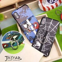 Marvel 手機殼與吊飾推薦到iPhone X 手機殼 MARVEL 正版授權 皮革/插卡/口袋 指環式 硬殼 5.8吋-蜘蛛人系列就在JM STAR推薦Marvel 手機殼與吊飾