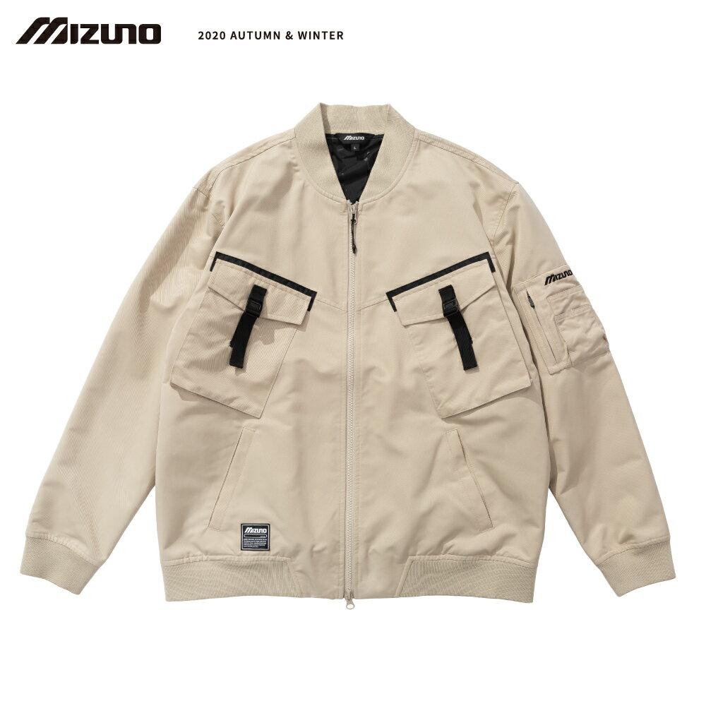 MIZUNO SPORTS STYLE 男款平織外套 D2TC057249(卡其)【美津濃MIZUNO】