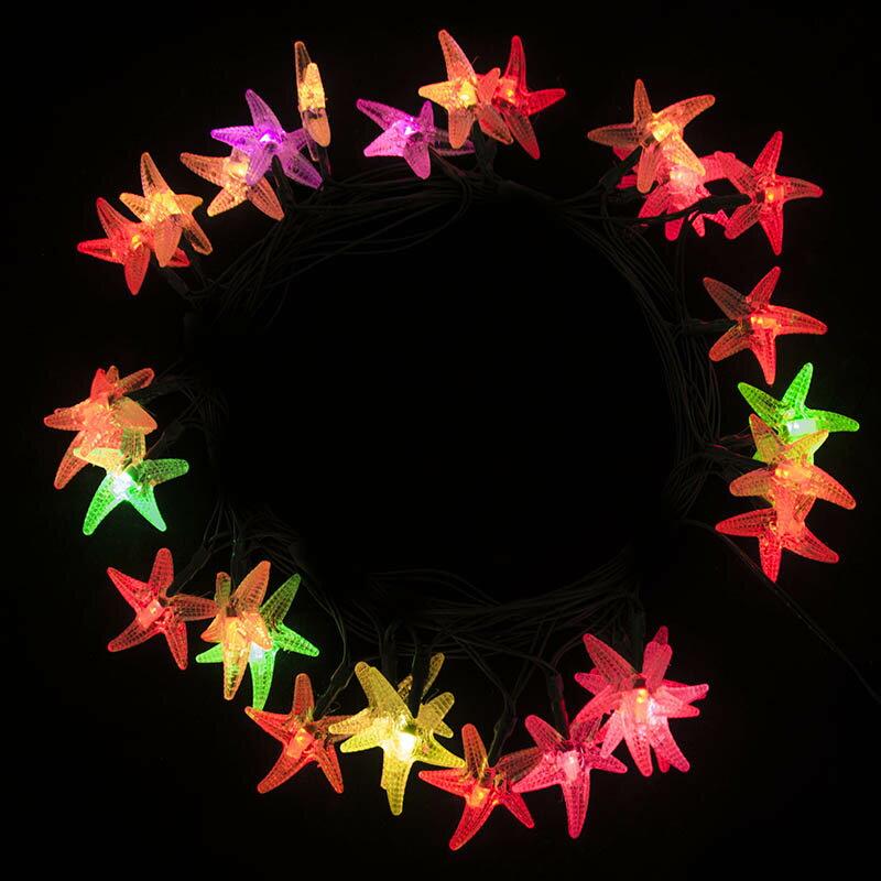 ALEKO SL30LEDSTARFISH 30 LED MULTICOLOR STARFISH STRING GARDEN LIGHT CHRISTMAS LIGHT 20 FEET 0