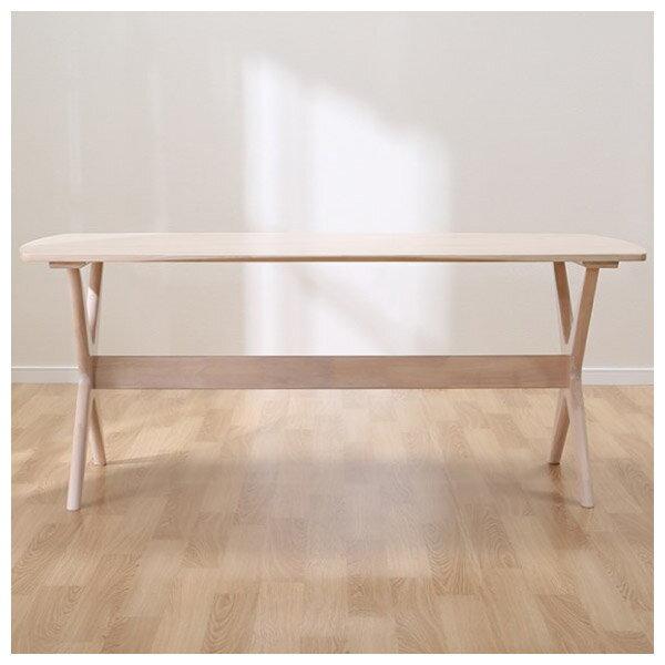 ◎(OUTLET)實木餐桌 RELAX 160 WW 橡膠木 福利品 NITORI宜得利家居 1