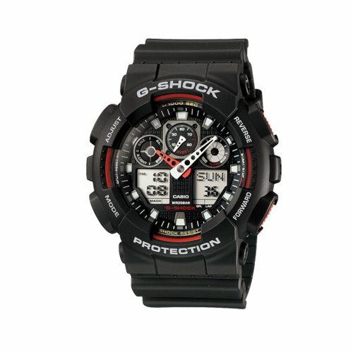 CASIO G-SHOCK/大錶殼雙顯運動錶GA-100-1A4DR