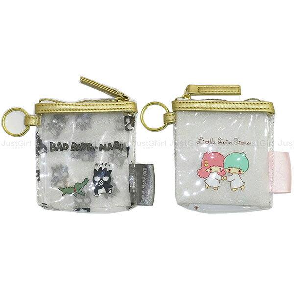 2017 酷企鵝 雙子星 零錢包 收納包 透明防水 配件 正版日本進口 限定販售 * JustGirl *