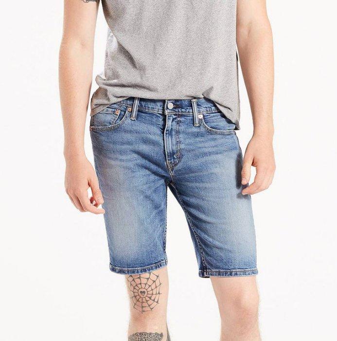 美國百分百【全新真品】Levis 511 牛仔 短褲 五分褲 牛仔褲 單寧 修身 藍色 刷白 29 30 32 34 36腰 F576