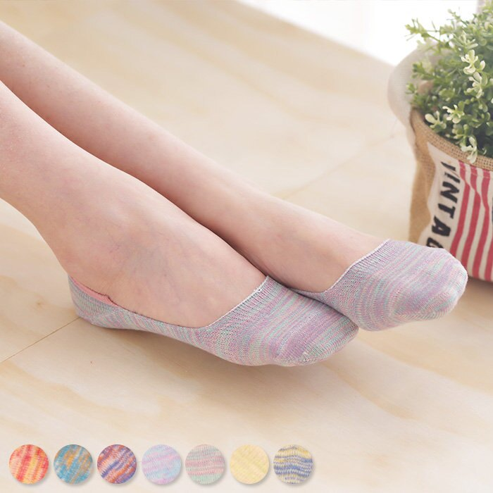 隱形襪 細針織混色矽膠止滑隱形襪子 純色素色 高跟鞋襪【SV7992】快樂生活網